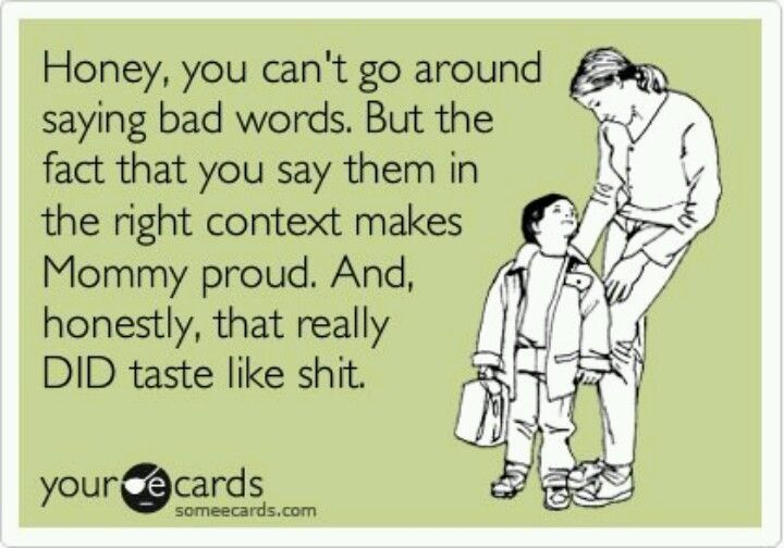 Kids And Bad Words Funny Quotes Mom Memes Words