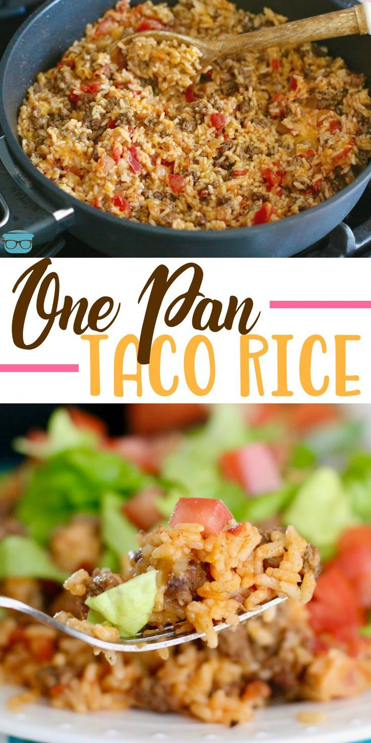 ONE-PAN TACO RICE DINNER | The Country Cook