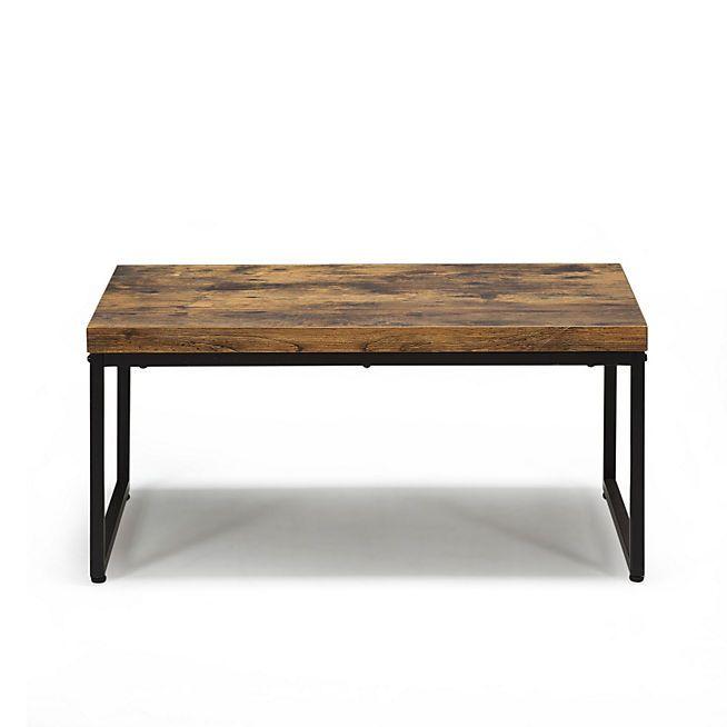 Manille Table basse style exotique effet bois et acier ...