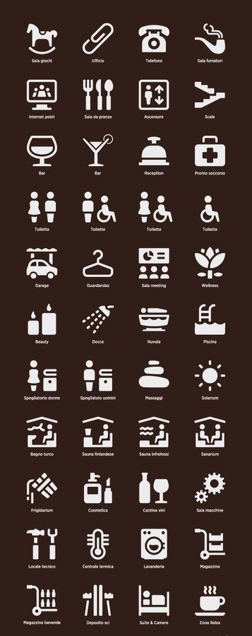 Pictogram - a graphic symbol that represents a specific object.