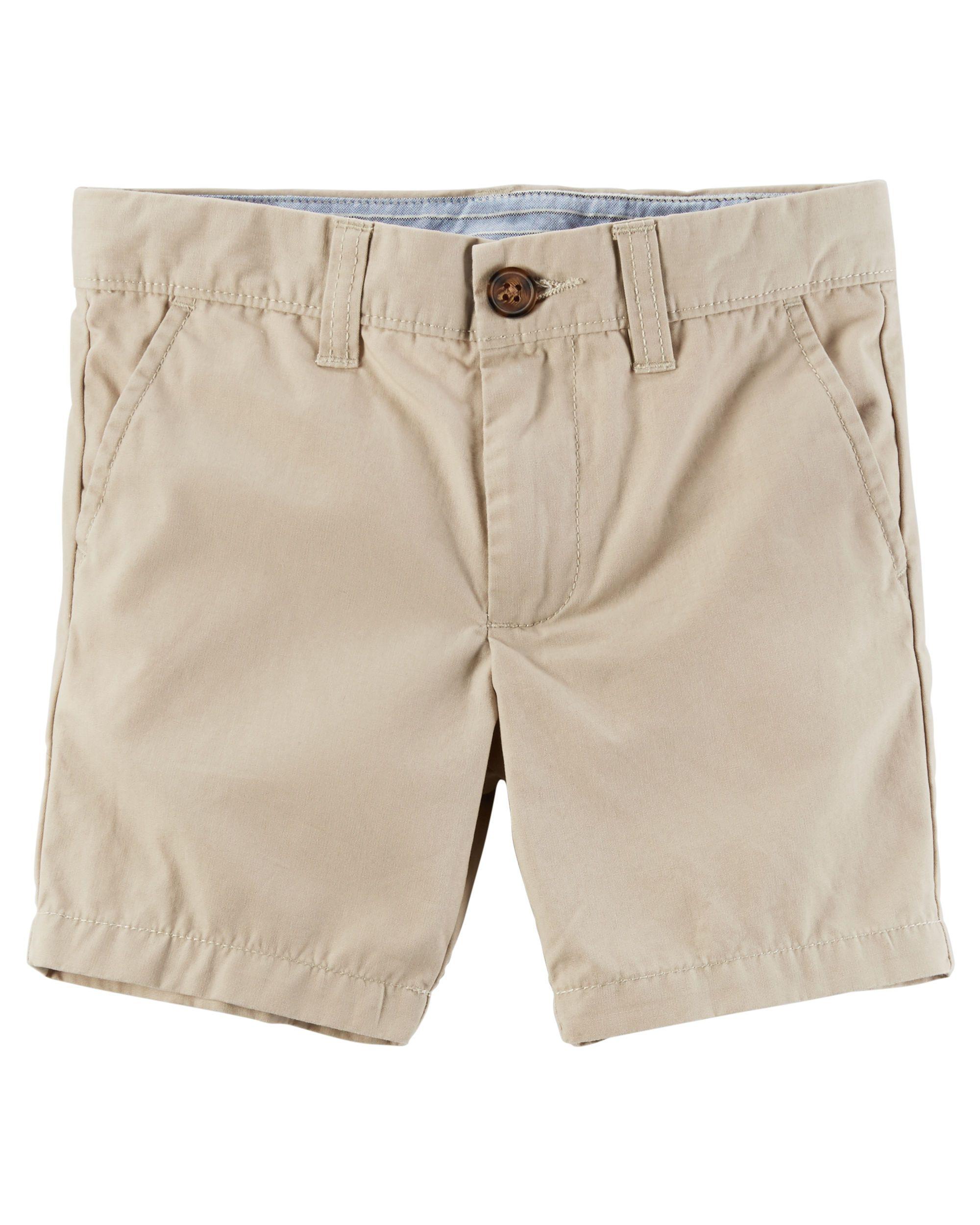 Flat Front Canvas Shorts Baby Boy Bottoms Toddler Boy