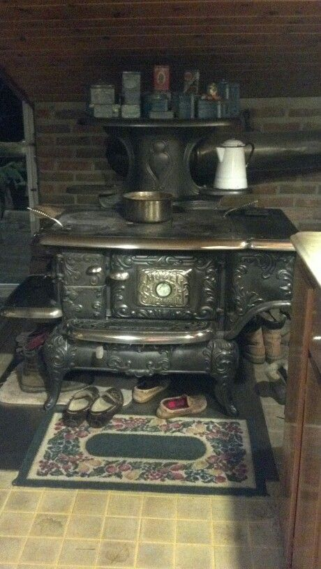 Our Model Strewart cook stove  Mid 1800's  Heats our home and I bake