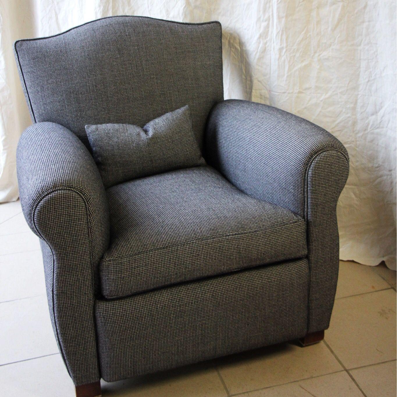 Tissus Ameublement La Rochelle fauteuil tapissier larochelle tissu chiné | fauteuil