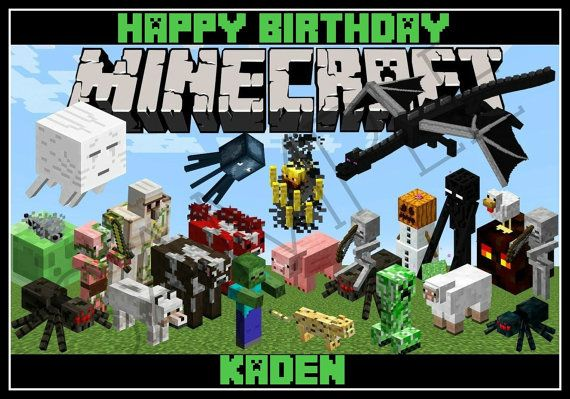 EDIBLE IMAGES MINECRAFT Minecraft edible cake topper image by
