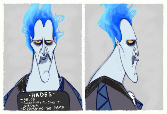 Villain Mugshots Hades by HaaappyAccidents on Etsy