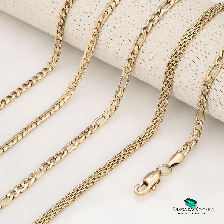 Cadenas En Oro Laminado De 18k Pulsera Plata Hombre Cadenas De Oro Para Hombres Joyas Oro