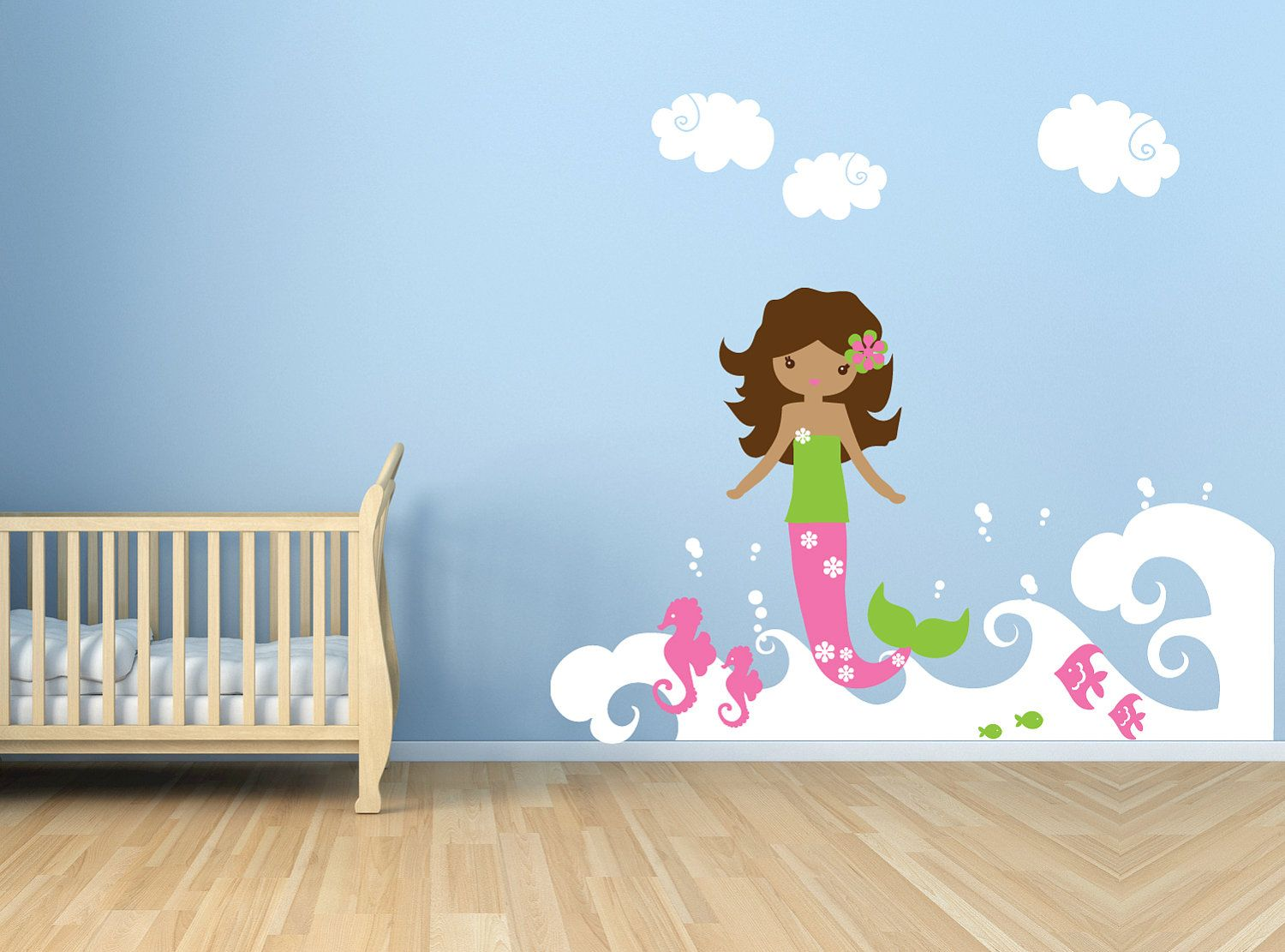 Mermaid wall decal childrens vinyl wall art sticker ocean mermaid wall decal childrens vinyl wall art sticker ocean mermaid wall decal set amipublicfo Image collections