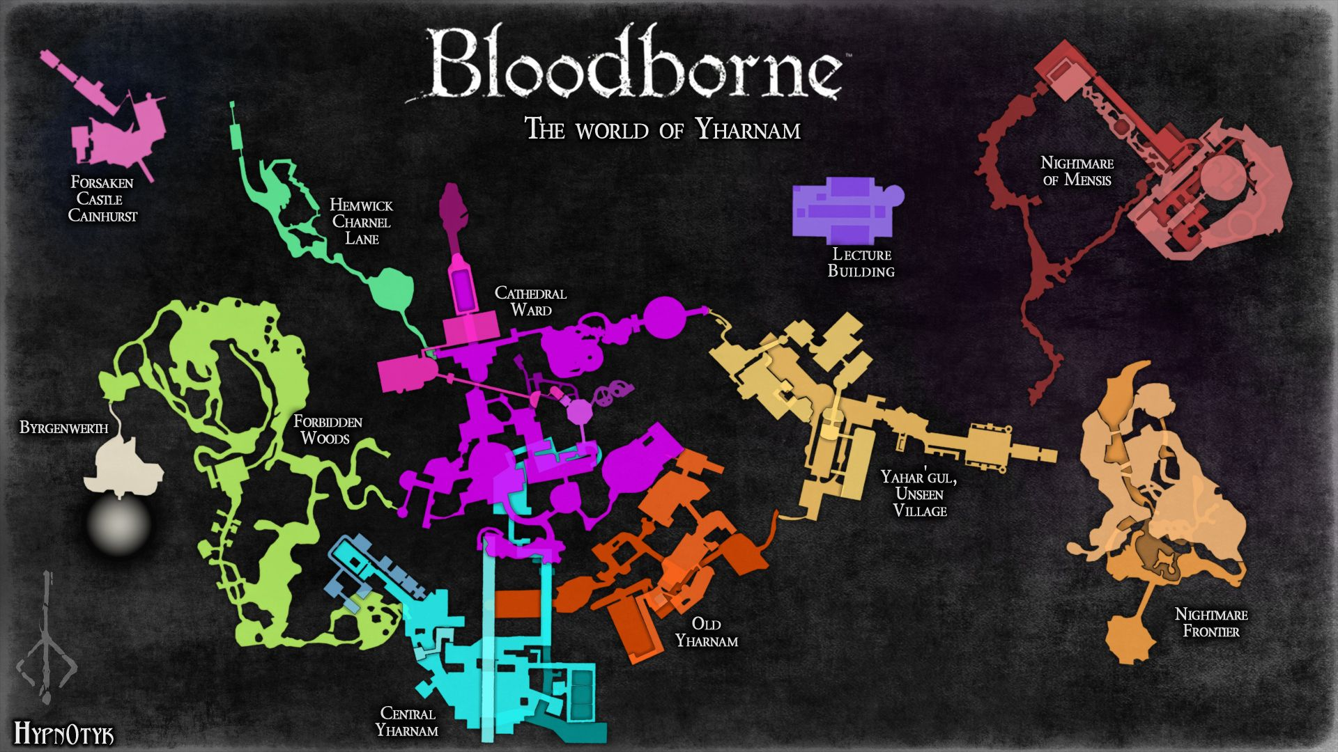 Bloodbornes Interconnected World Gets A Brilliant Illustration By - Map of us reddit user