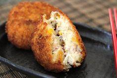 Japanese favorites #crab creamy croquette: http://mamaloli.com/recipes/entree/crab-cream-croquette-recipe/