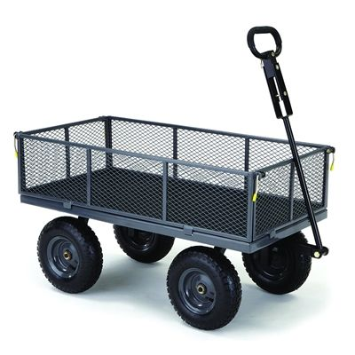 Gorilla Carts 5 Cu Ft Steel Yard Cart