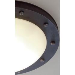 Robers lights outdoor ceiling lamp Till natural iron with opal glass 1350 cm 5400 cm De2551a Robersceiling