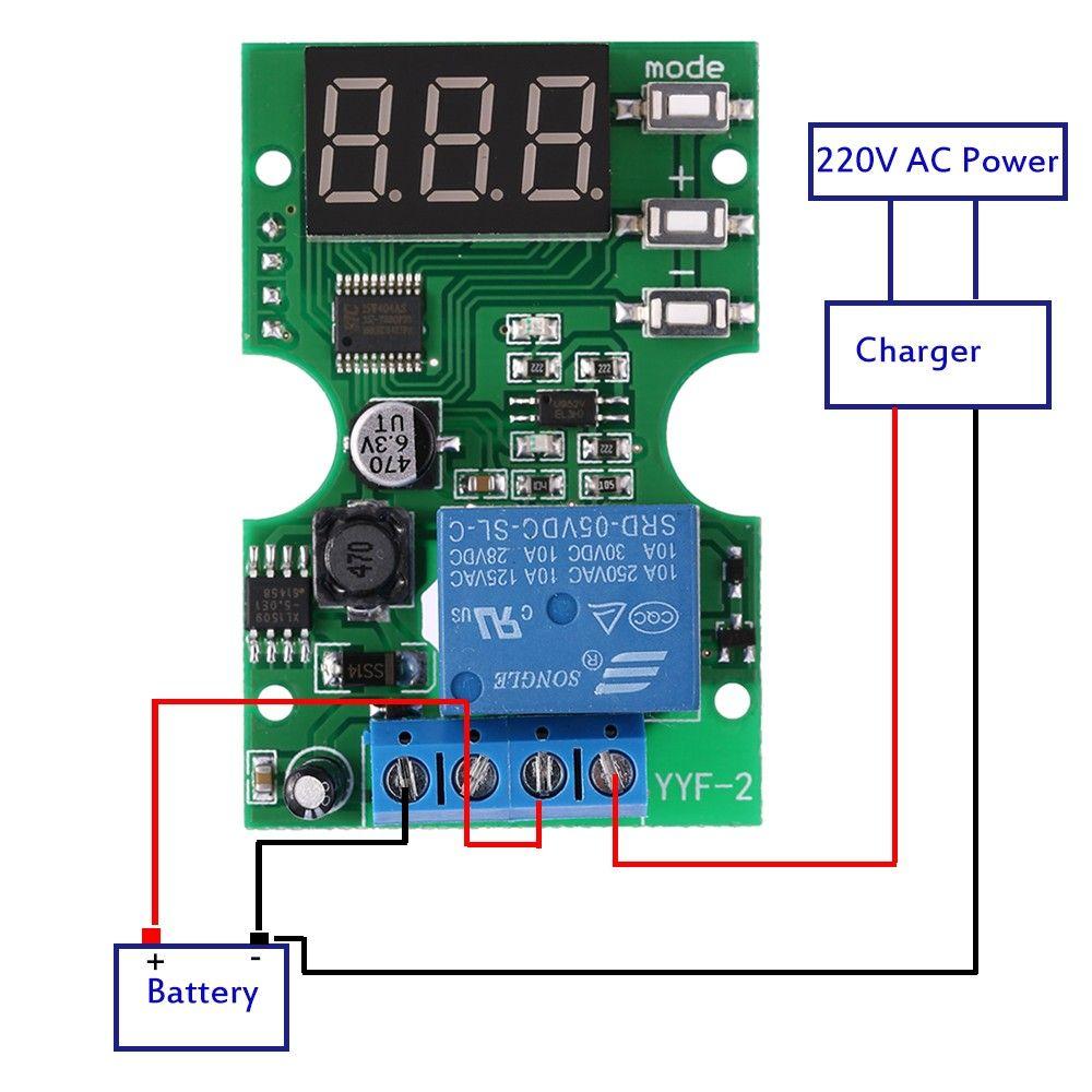 DC6-30V Voltage Test Module Voltage Meter Relay Output Control Delay ...