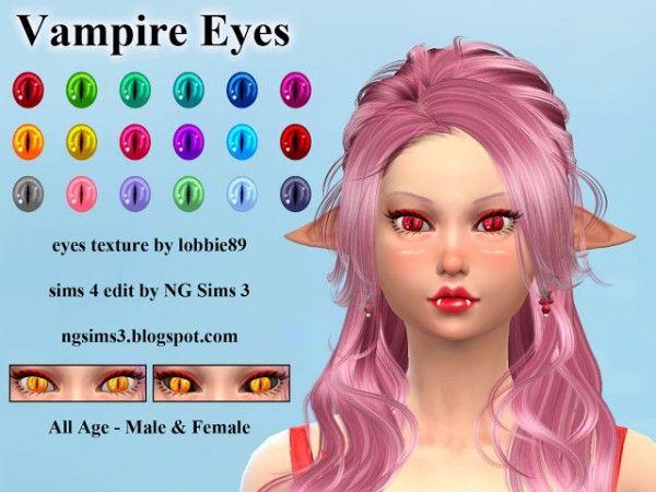 NG Sims 3: Vampire Eyes • Sims 4 Downloads | Game Codes and