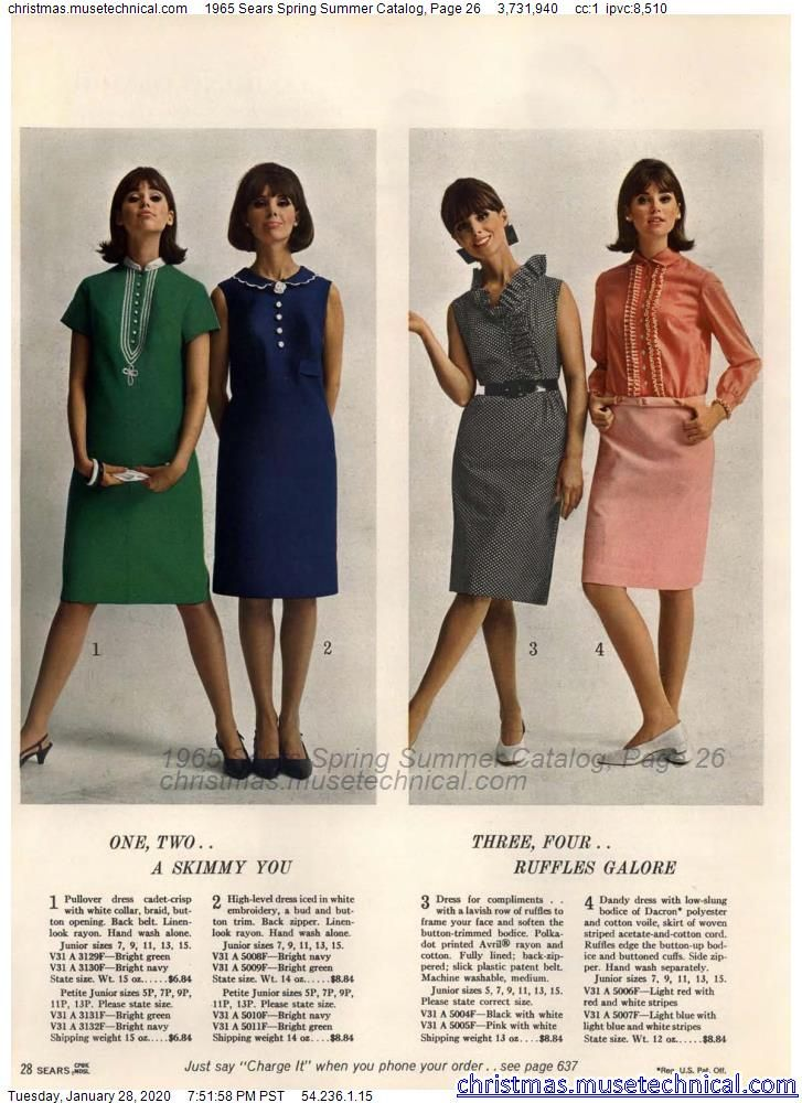 1965 Sears Spring Summer Catalog, Page 26 - Christ