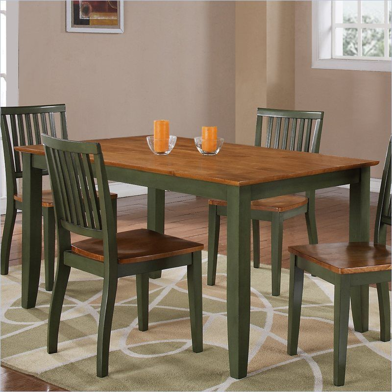 New Oak Green Kitchen Dining Room Table Nook 4 Chairs Seat T16 Oak Dining Room Table Rectangular Dining Room Set Rectangular Dining Table