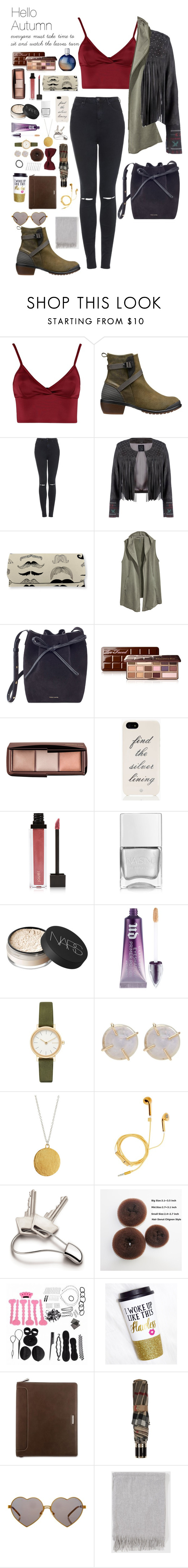 """""""Hello autumn"""" by ugglorimossen ❤ liked on Polyvore featuring Lipsy, Keen Footwear, Topshop, H&M, Mansur Gavriel, Too Faced Cosmetics, Hourglass Cosmetics, Kate Spade, Jouer and Nails Inc."""