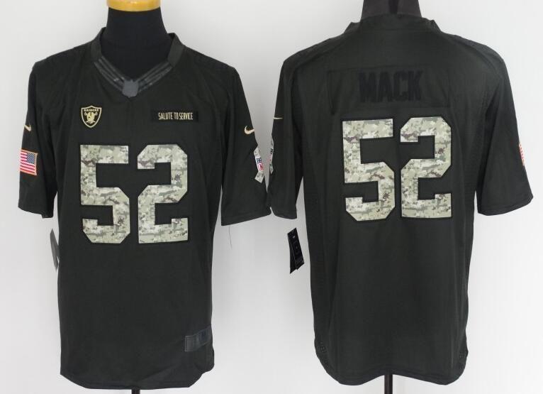 meet 2e992 0d28d Okaland Raiders 52# Mack black Salute TO Service Jersey ...