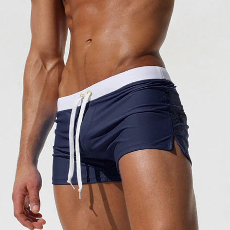 74eb44dd85 Sexy Men Swimwear Boxer Trunks Brand High Quality Swimsuits Mens Swim Boxer Shorts  Surf Board Shorts Plus Size Swimming Wear Item specifics Item Type:Trunks  ...