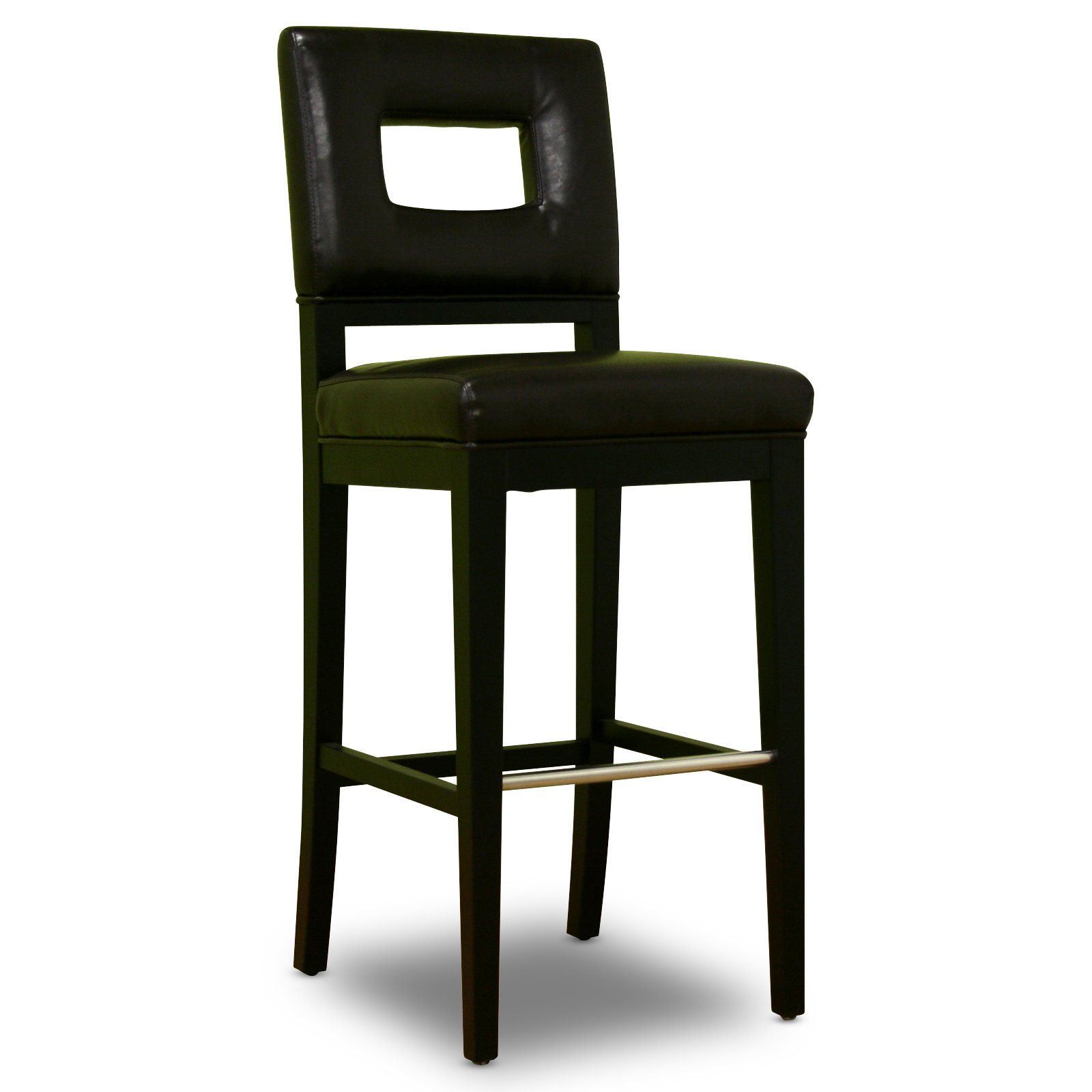 30 in. Faustino Dark Brown Bycast Leather Bar Stool at the Foundary