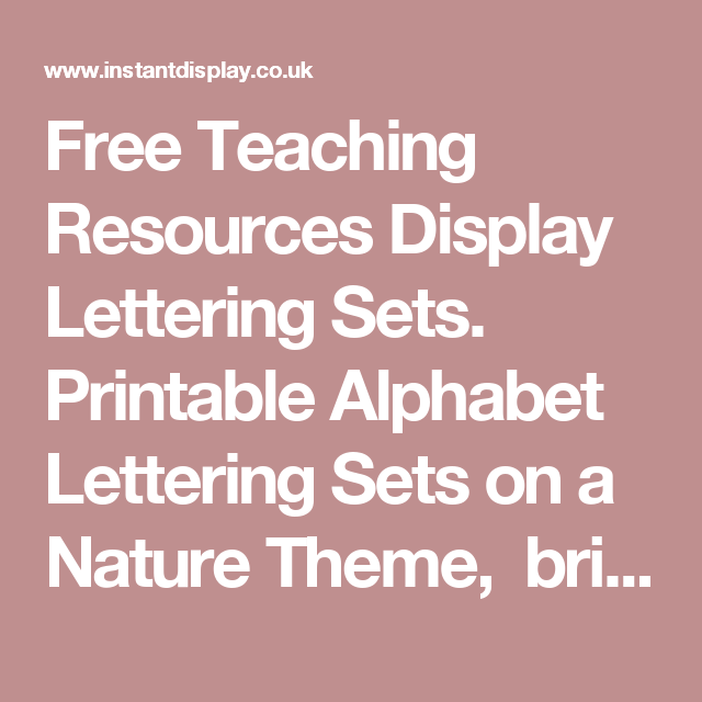 free teaching resources display lettering sets