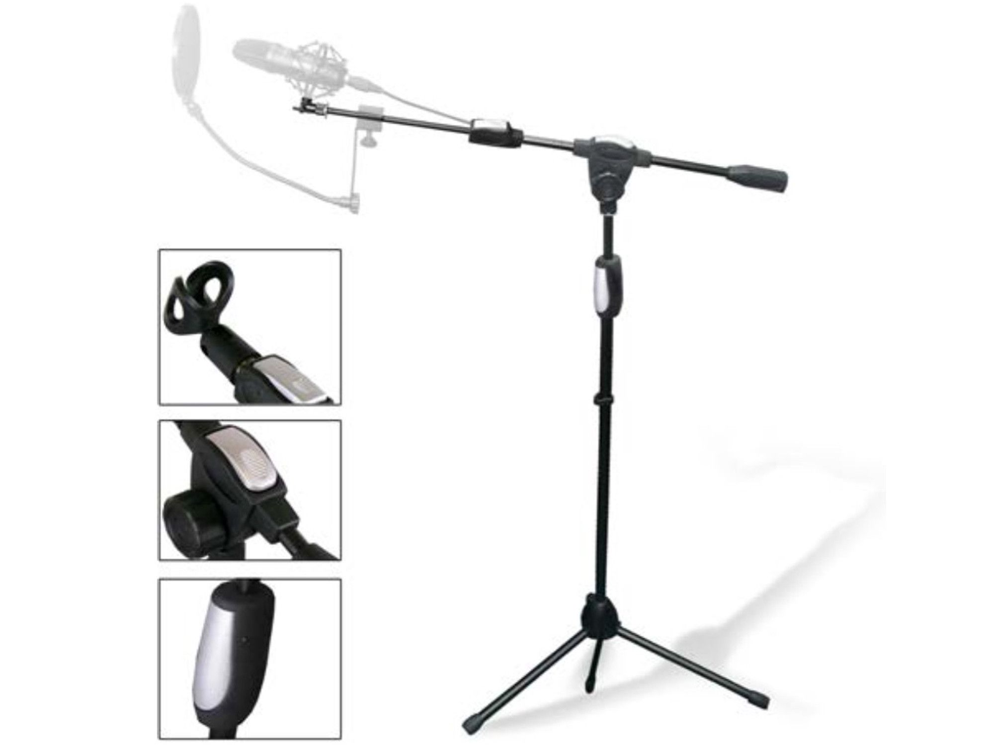 Tripod Microphone Stand with Clasp Adjuster (MKST3)