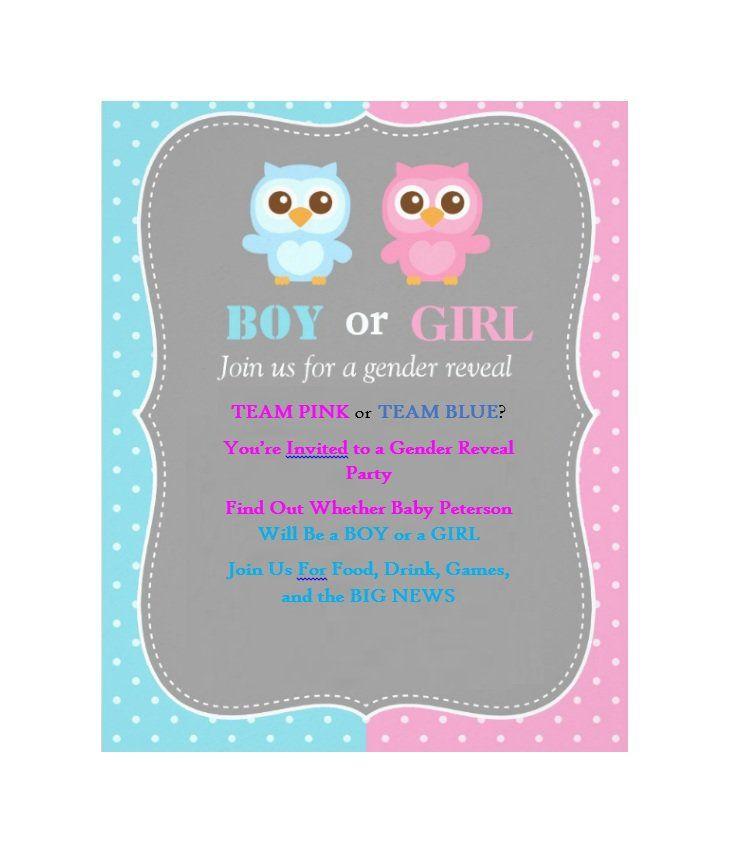 17 Free Gender Reveal Invitation Templates ᐅ Gender Reveal