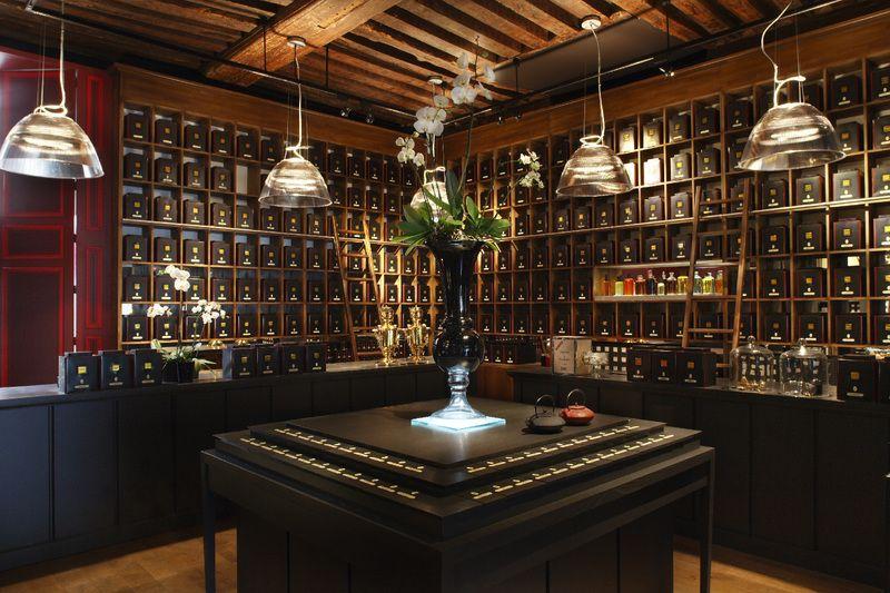 Dammann Freres. An exclusive tea shop in Paris. Hipper than the hippest... #teashops