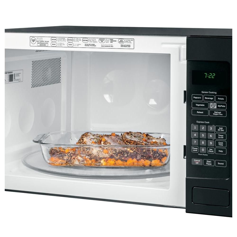 Ge Profile 2 2 Cu Ft Countertop Microwave In Black With Sensor Cooking Peb7226dfbb The Home Depot With Images Countertop Microwave Countertops Microwave