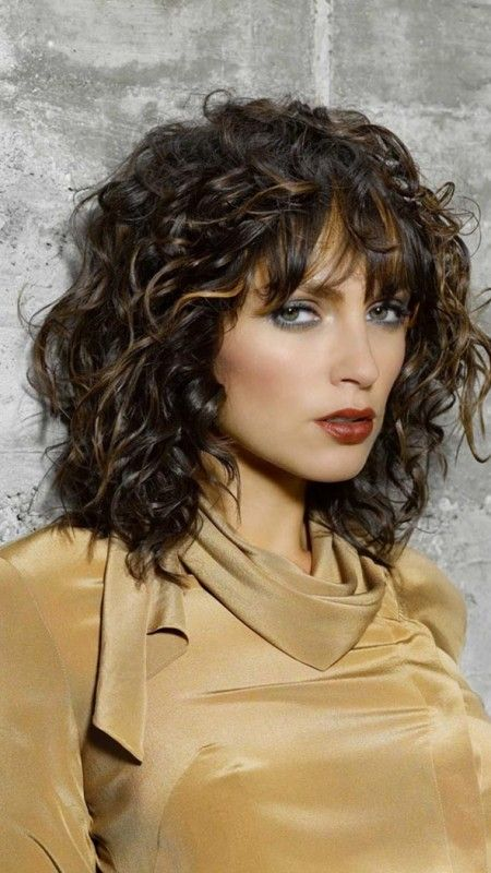 Curly Hairstyles With Bangs For 2017 Coiffures Frisees Modeles