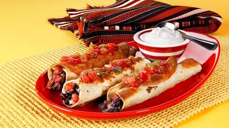 Black Bean Tortilla Roll-Ups