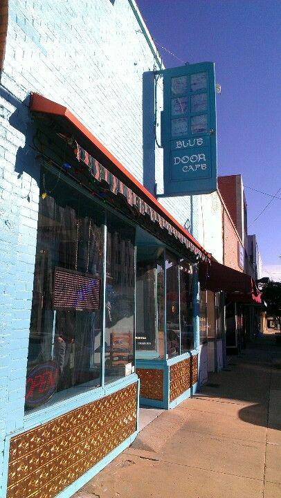 The Blue Door Cafe in downtown Sherman, Tx @shermantexas