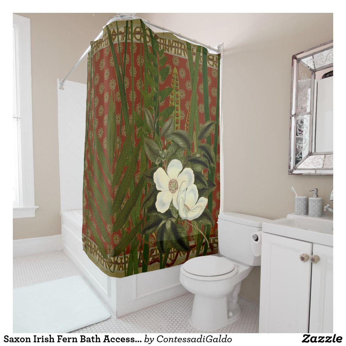 Saxon Irish Fern Bath Accessories Shower Curtains Zazzle
