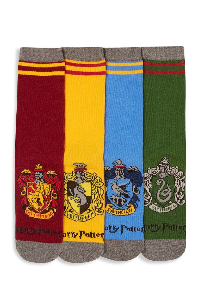 Harry Potter Welches Haus Primark 4 Pack Harry Potter Hogwarts Socks Fantasy In