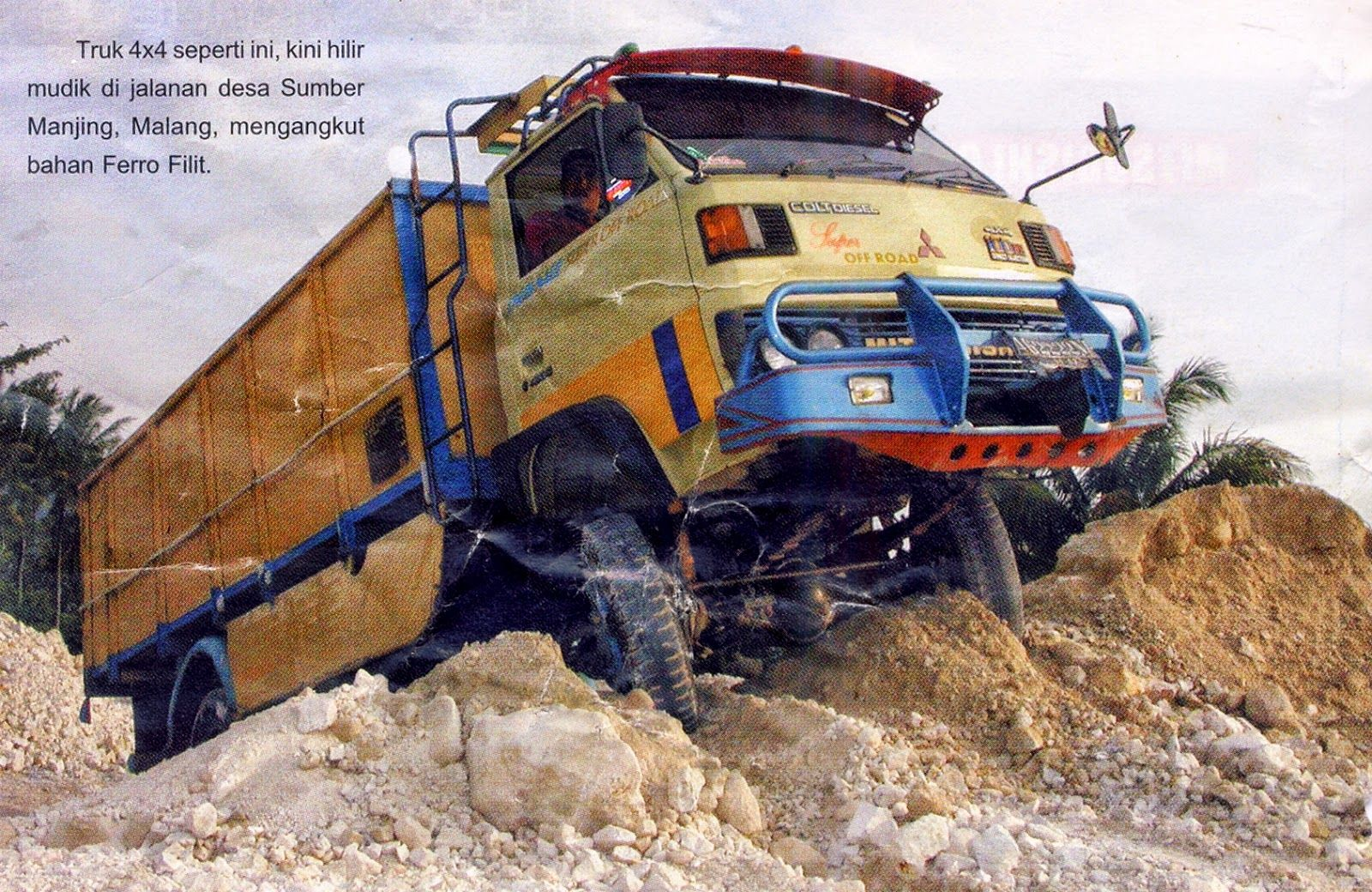Modifikasi truck mitsubishi colt diesel dan canter 4wd foto truck