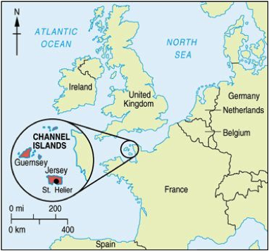 Map Of Jersey Channel Islands Channel Islands Map | Gypsy Wools