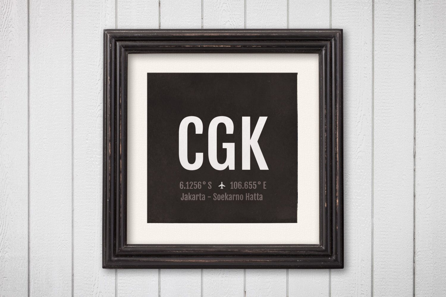 Jakarta Airport Code Print Cgk Aviation Art Indonesia Etsy Airplane Nursery Nursery Poster Aviation Nursery