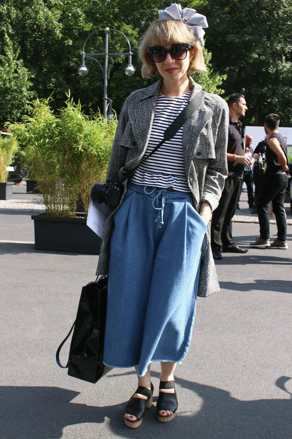 Berlin Fashion Week Street Style Was About Easy Shapes and Complex Patterns - Fashionista