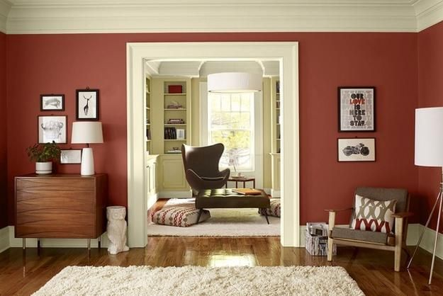 25 Ideas For Modern Interior Design And Decorating With Marsala Red Wine Color Living Room Paint ColorsWall