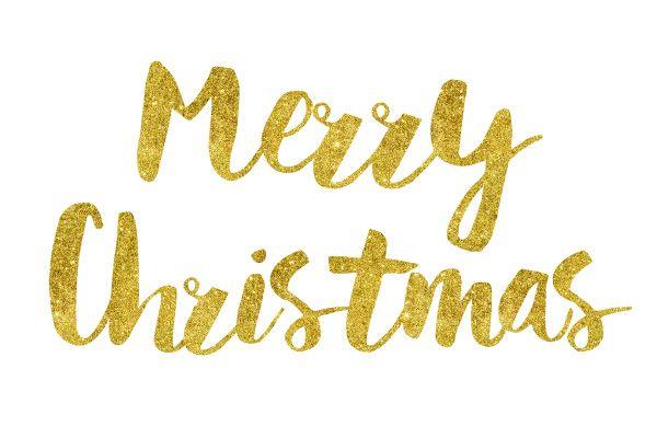 Merry Christmas Gold Foil Text | Vector Illustrations | Pinterest ...