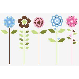 RoomMates RMK1278GM Growing Flowers Peel & Stick Giant
