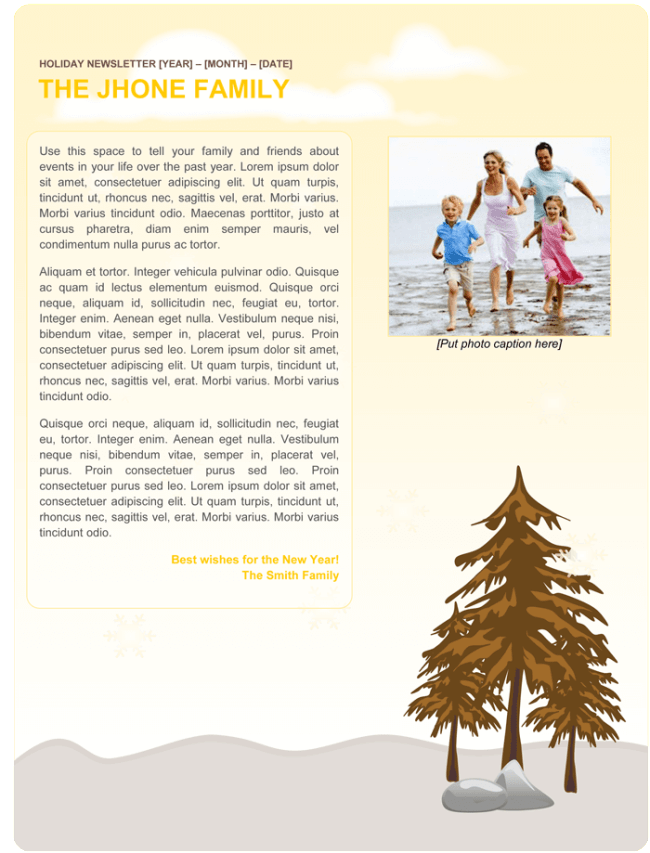 family newsletter template 254 Newsletter templates