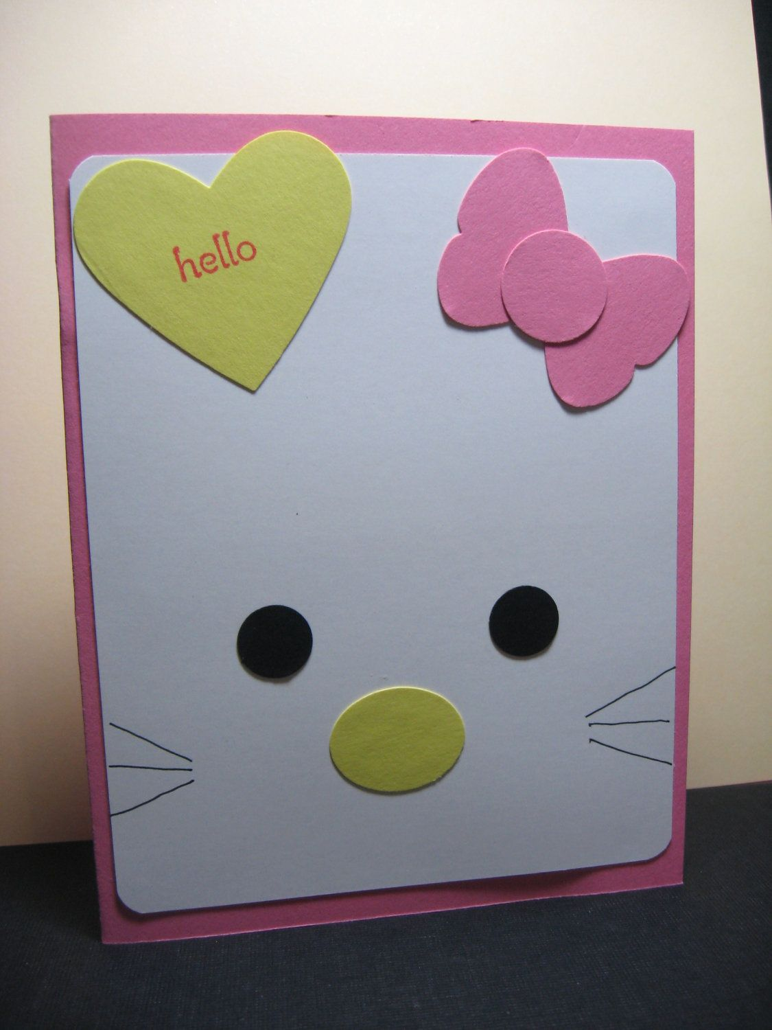 Simple hello kitty card cards pinterest hello kitty kitty and