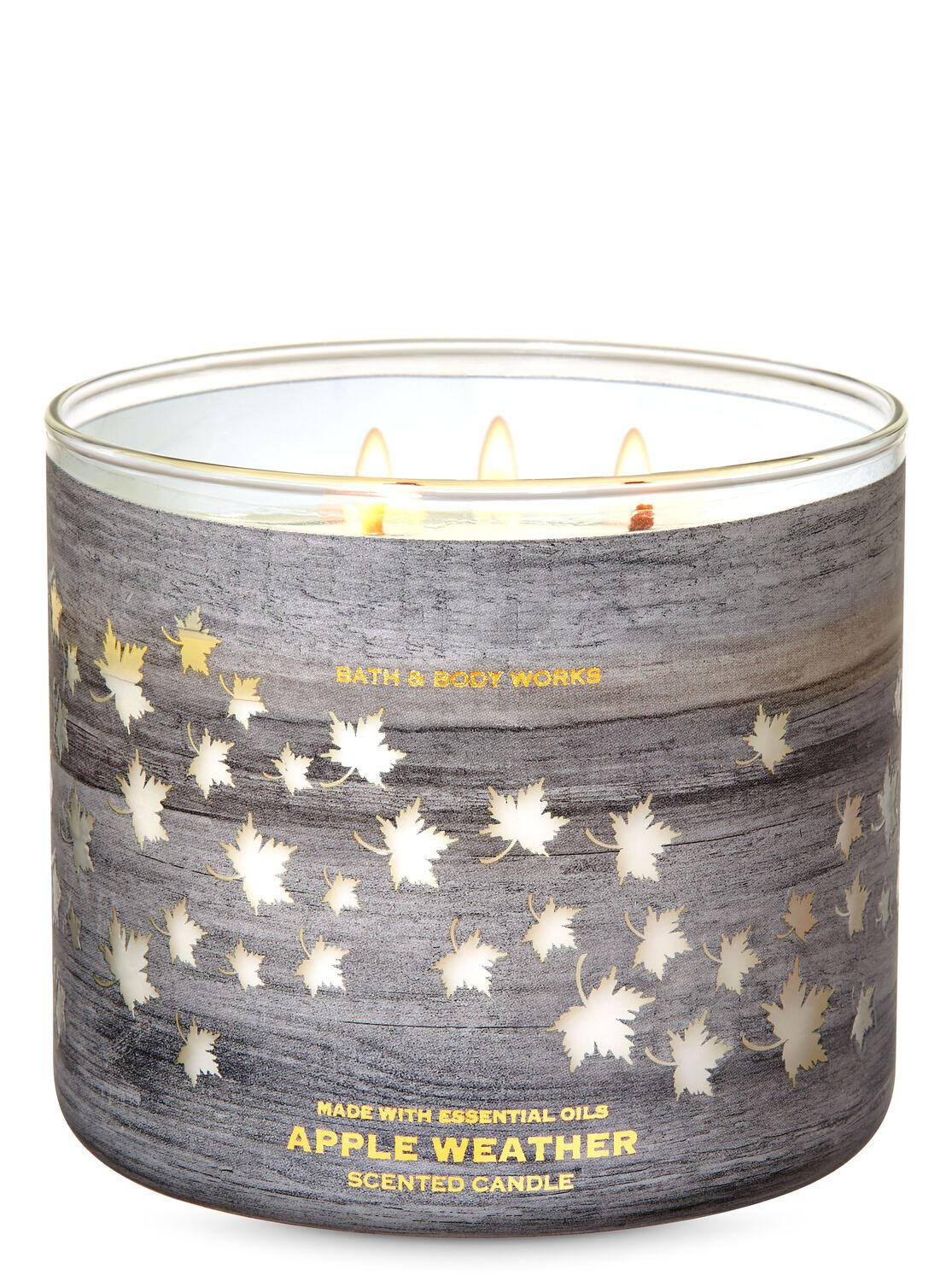 Apple Weather 3 Wick Candle By Bath Body Works 3 Wick Candles