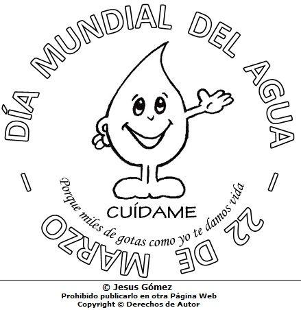 Dia Mundial Del Agua En Dibujo Para Niños Dia Del Agua Water