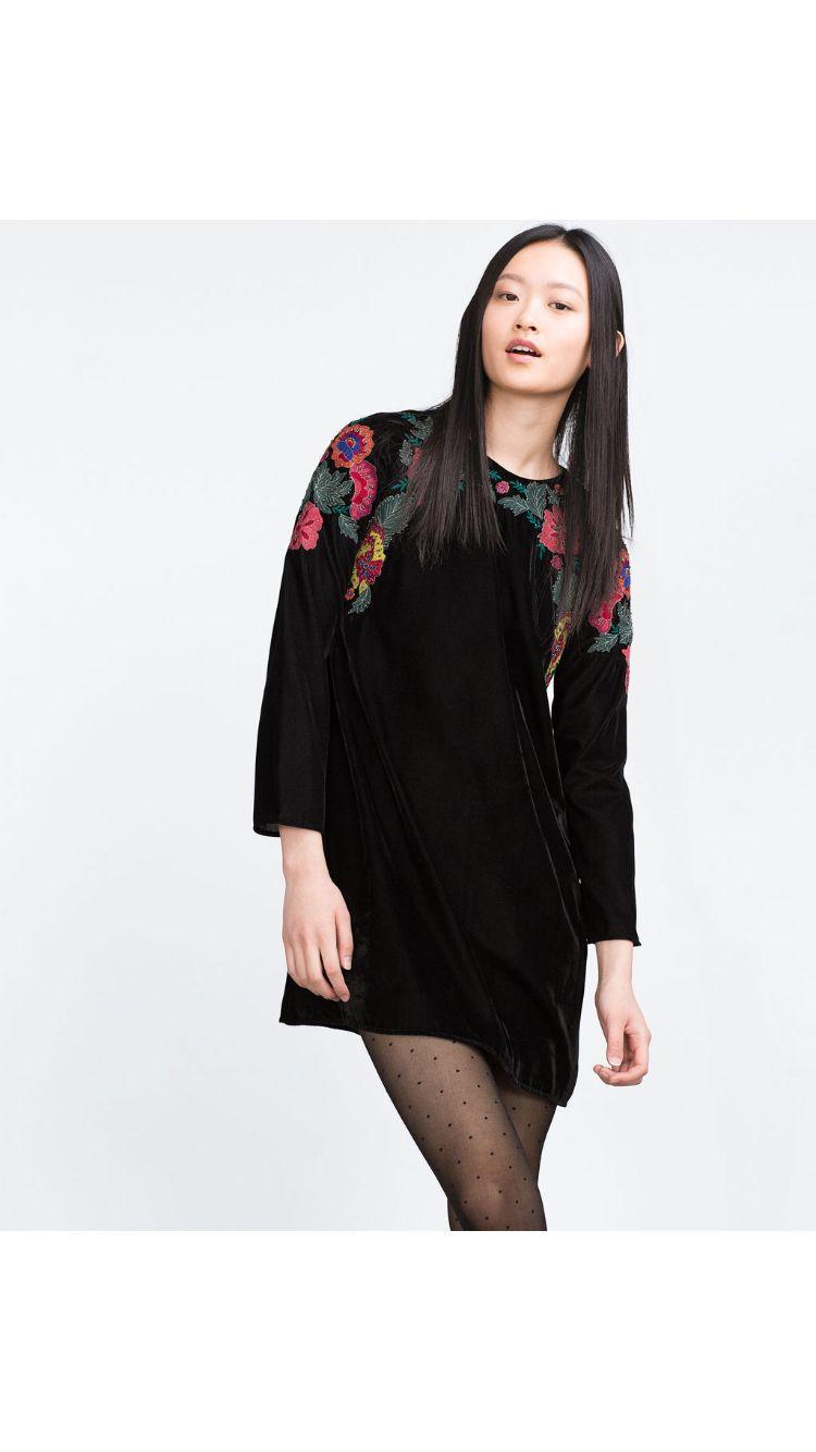 Zara-vestido terciopelo