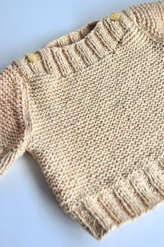 CUELLO- boat neck sweater pattern:   1 -Bebés y Niños- Baby ...