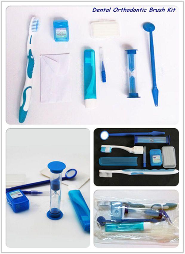 Dental Orthodontic Brush Ties 8 Pcs Toothbrush Interdental Brush
