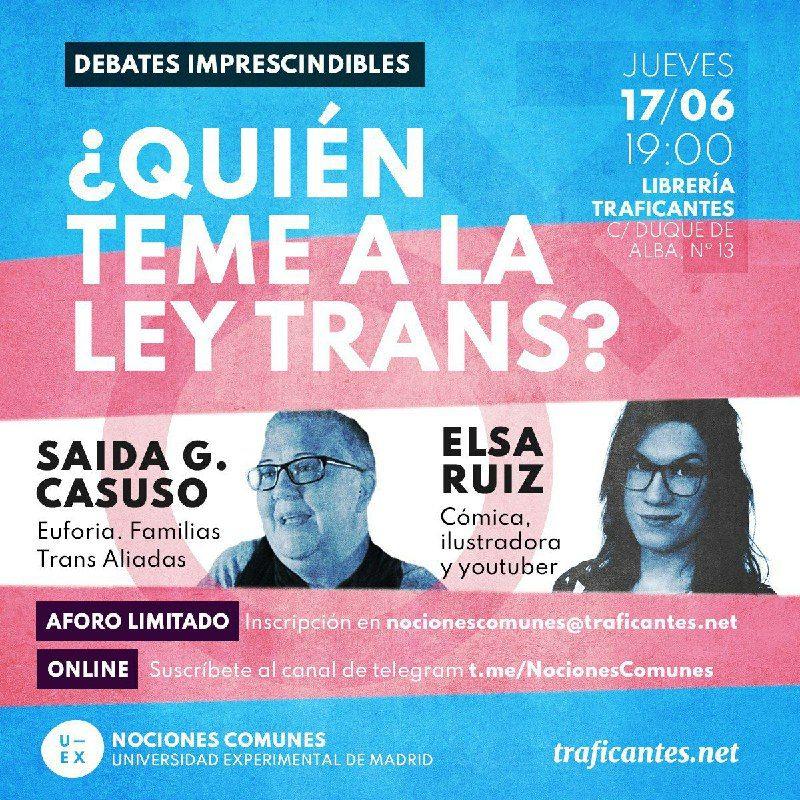 ¿Quién teme a la Ley Trans? - Madrid y Zoom