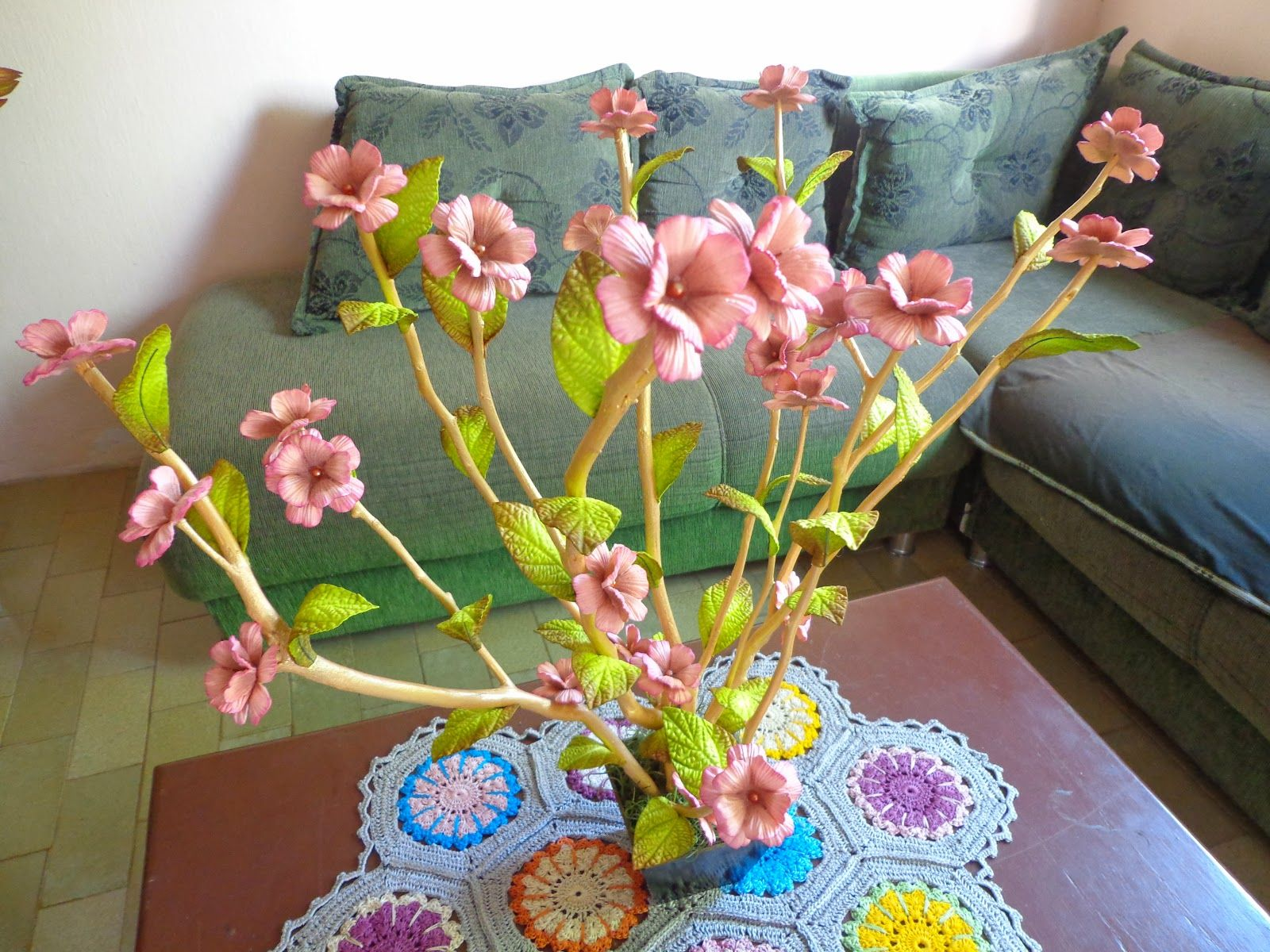 Flores De Mira Arvore De Galhos Secos Com Flores Em Eva Flores