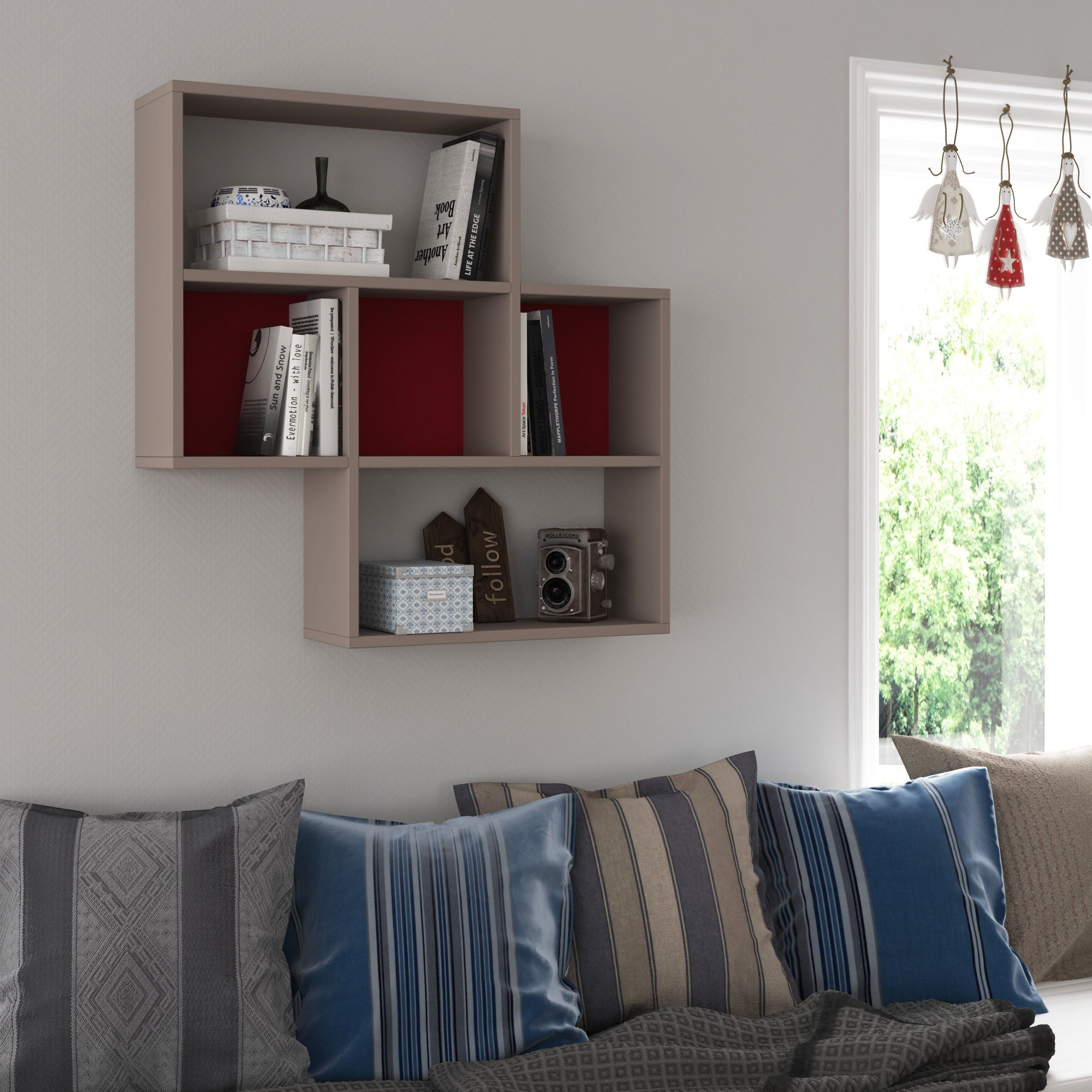 Enjoy the delightful and stylish simplicity in the layers of this floating bookshelf